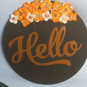 """12"""" wooden hello sign"""